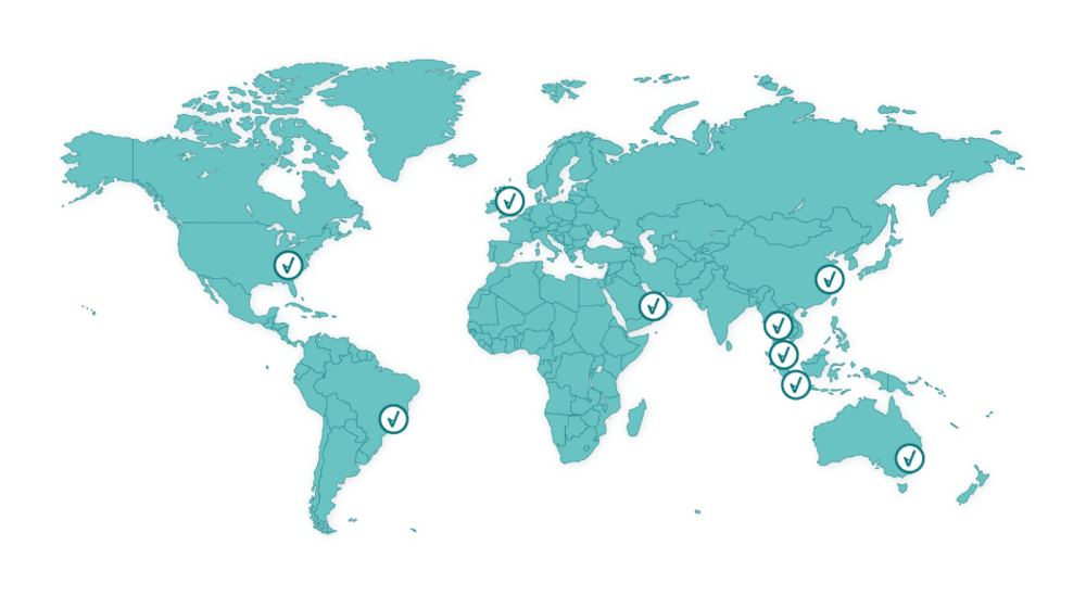 anpario is located across the world