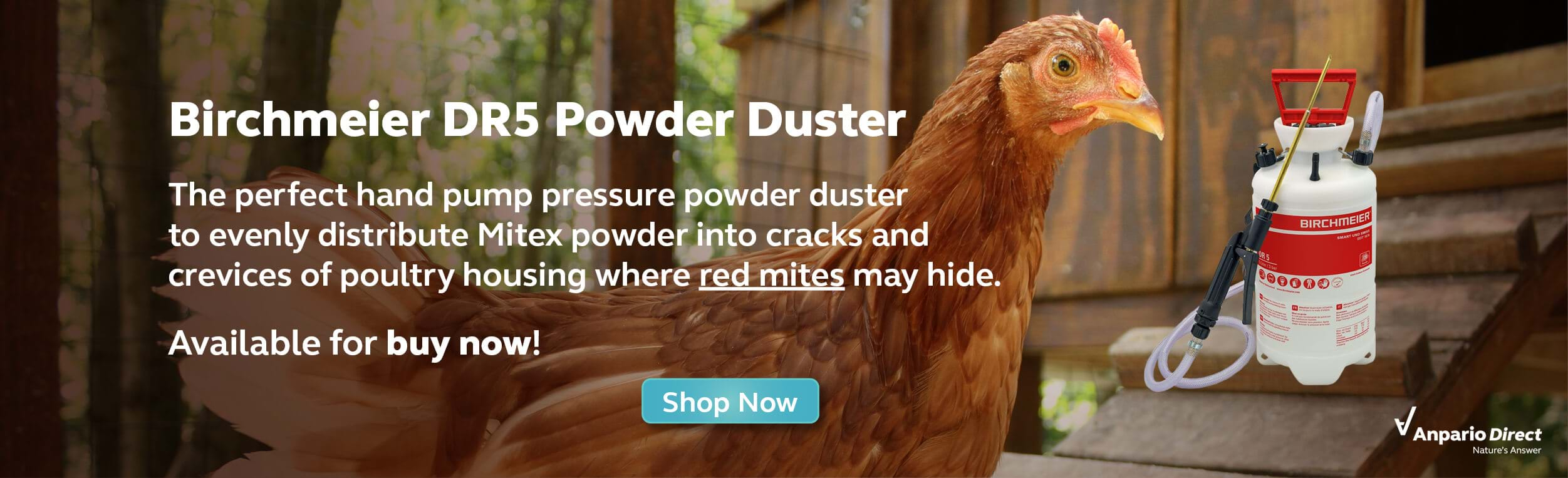 Birchmeier DR5 Powder Duster – the Ideal Mitex Applicator