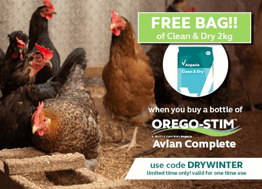 Buy Orego-Stim Avian Complete get Clean & Dry 2kg Free!